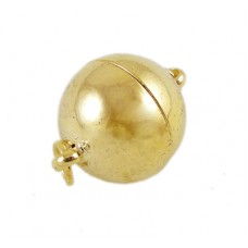 Magnetic Clasp 10mm Round Golden NF