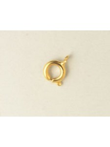 Bolt Ring 242/7mm Gold Plated
