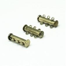 Magnetic Slide Clasp 3-st 21mm AB NF