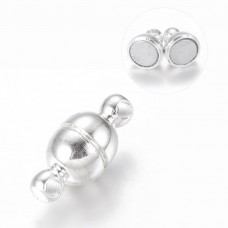 Magnetic Clasp Round 5mm Silver Pl NF