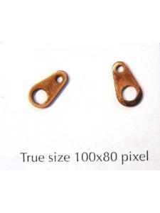Necklace Tag Large Antique Copper