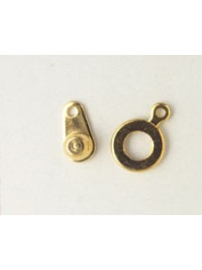 Clasp Large Button 9mm Gold Plated