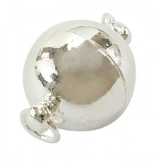 Magnetic Clasp 12mm Round Silver PL NF