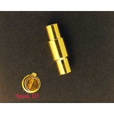 Magnetic Clasp 4x15mm (H 3mm) Gold Plate