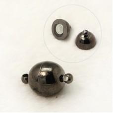 Magnetic Clasp Round 8mm Black Nickel