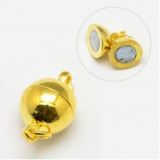 Magnetic Clasp 8mm Round Gold colour NF