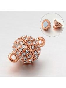 Magnetic Clasp 10mm Diamonte Rose Gold P