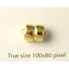 Magnetic Clasp 7.5x12.5mm Gold Plated