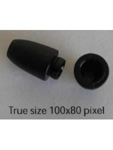 Clasp Plastic 27.5x10mm 3.4mm Black10pcs