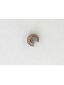 Crimp Cover 4mm 1.5mm hole Antiqu Copper