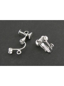 Clip-on Earring w/diamonte Platinum NF