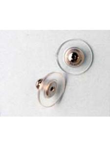 Earring Clutch Plastic Disc N/P - PAIR