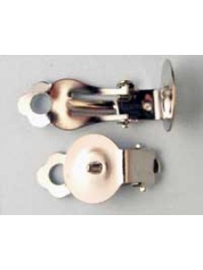 Clip-on w/11mm Disc Nickel Pl. - pairs
