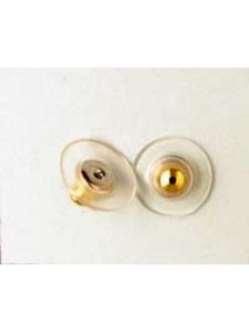 Earring Clutch - Plastic Disc G/P - PAIR