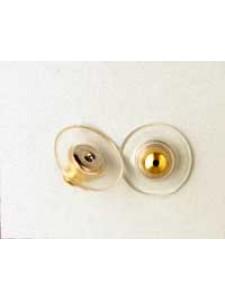 Earring Clutch - Plastic Disc G/P - PAIR