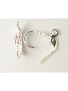Ear Wire E389 Silver Plated - PAIR