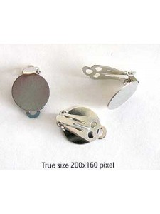 Clip on w/disc16mm Nickel colour - pairs