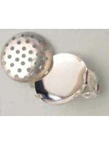 Clip-on earrings w/16mm sieve -prs