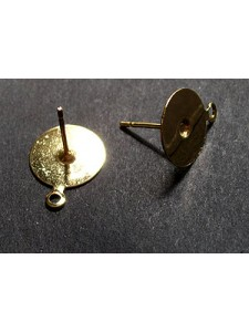 Ear Post Drop 10mm Gold platedl -PAIRS