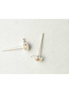 Ear Post Drop 4mm Silver plated - pairs