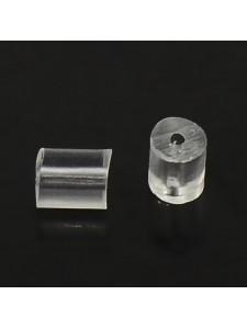 Plastic Earnuts 3x3mm H:0.7mm - PAIRS