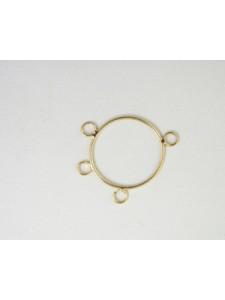 Hoop 25mm w/3 rings Brass G/P - each