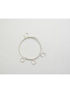 Hoop 25mm w/3 rings Brass S/P - each