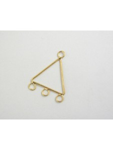 Triangle Brass with 3 rings G/P - each