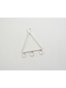 Triangle Brass with 3 rings S/P - each