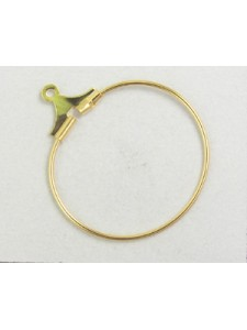 Stamping Hoop 20mm Gold Plated - each