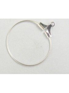 Stamping Hoop 20mm Silver Plated - each