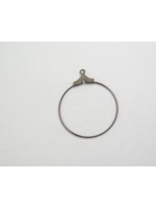 Stamping Hoop 25mm Black Nickel