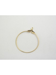 Stamping Hoop 25mm Gold Plated
