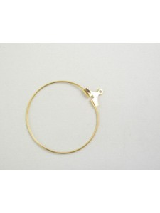 Stamping Hoop 30mm Gold Plated - each