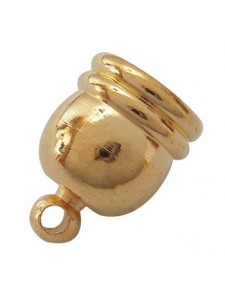 Cord End 10x14mm (ID 8mm ) Gold Plated