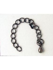 Extension Chain 6cm Black Nickel