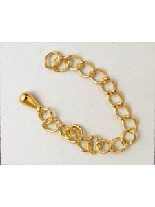 Extension Chain 6cm Gold plated