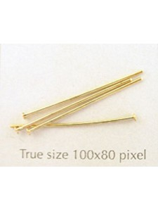 Head Pin 1 (25mm x 0.8mm) Gold Plated