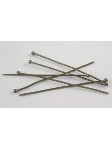 Ball Headpins 35mmx0.6mm Black Nickel