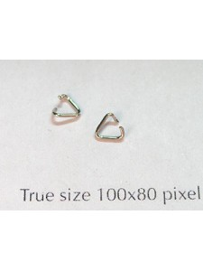 Triangle 4mm Nickel Plated Joblot