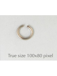 Jump Ring (Steel) 1.5x9mm Nickel plated