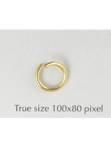 Jump Ring (Steel) 1.5x9mm Gold plated NF