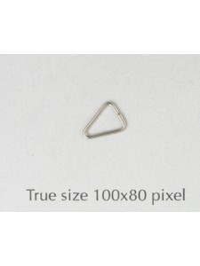 Triangle Iron H:7.5mm D:0.6mm Nickel Pl