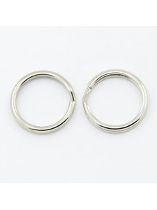 Split ring 15x2mm Steel Platinum colour