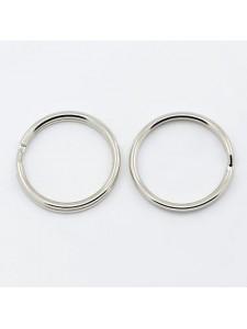 Split ring 20x2mm Steel Platinum colour