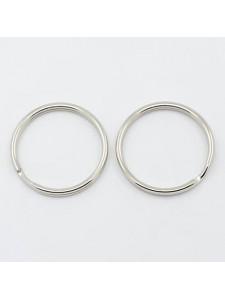 Split ring 25x2mm Steel Platinum colour