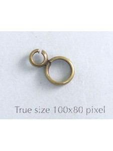 Double Soldered Ring Antiq Brass NF