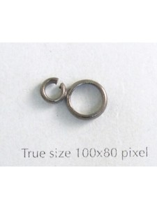 Double Soldered Ring Black Nickel NF