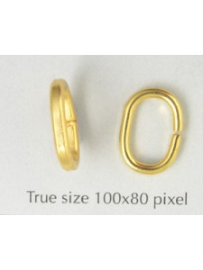 Jumpring Large Oval 14x10x2mm Gold Pl.NF