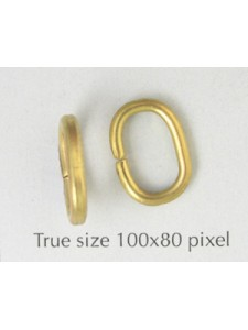 Jumpring Large Oval 14x10x2mm Raw Brass